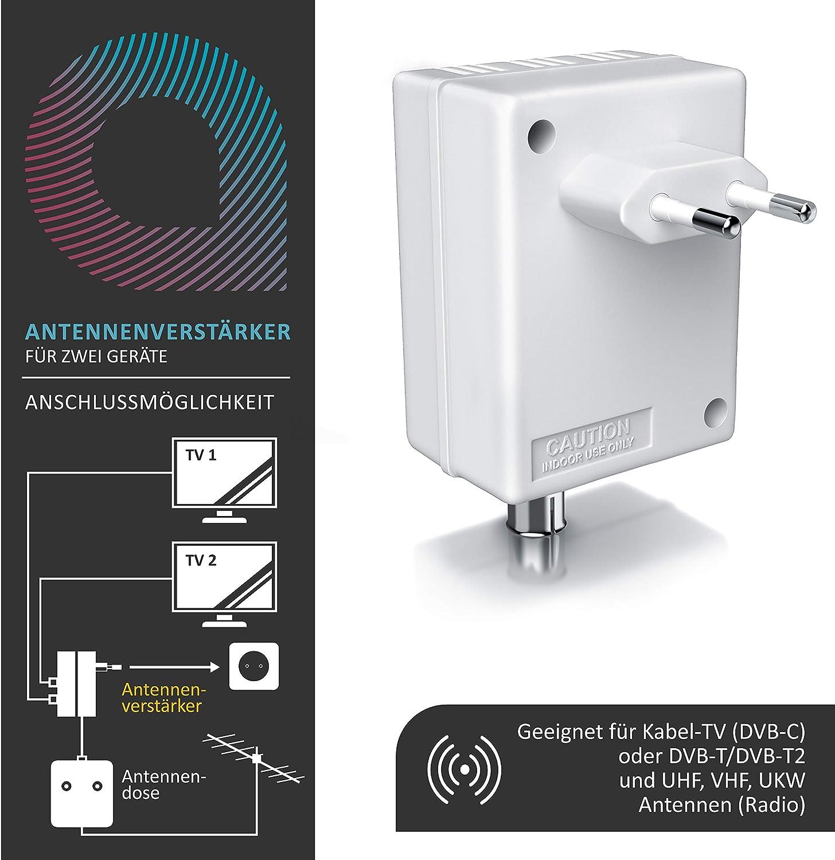 DVB-T Antennen Verstärker Zweigeräteverstärker 2-Geräte-Verstärker