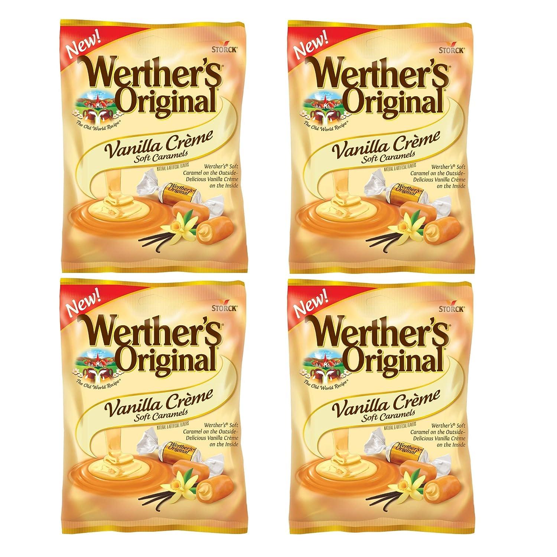 Werther's Original Vanilla Creme Soft Caramels, 4.51 Oz Pack of 4