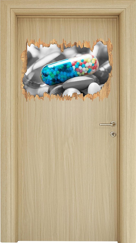 perline colorate in manica tablet nero / svolta in legno bianco in look 3D, parete o formato adesivo porta: 62x42cm, autoadesivi della parete, autoadesivo della parete, decorazione della parete Stil.Zeit