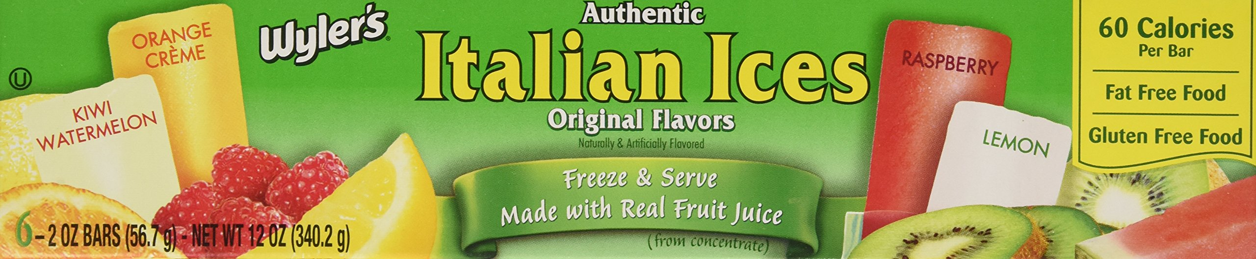Wyler's Authentic Italian Ice Freezer Bars, 6-Count (Pack of 4) by Wyler's (Image #4)