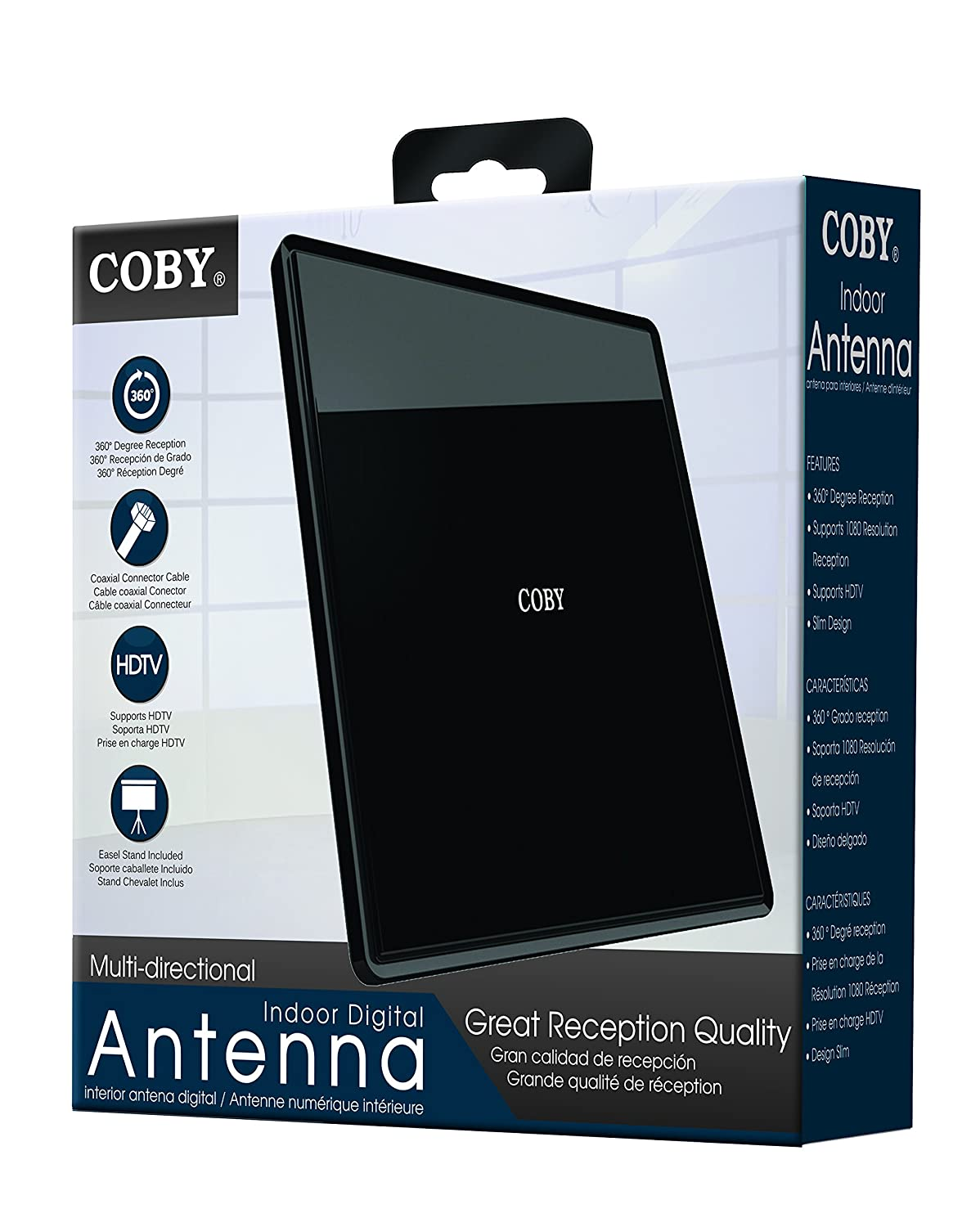 Amazon.com: Coby Multi Directional Indoor Digital/Video Antenna (CBA-09): Home Audio & Theater