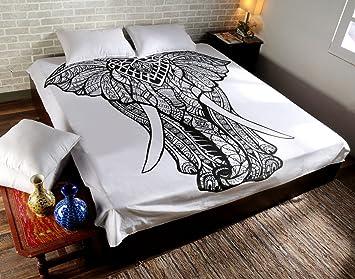 Heyrumbh Handicrafts 84 X 95 Inches Queen Size Ombre Elephant
