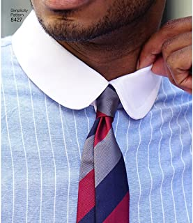 product image for Simplicity US8427BB Men's Fitted Dress Shirt with Collar Sewing Patterns by Mimi G, Sizes 44-52