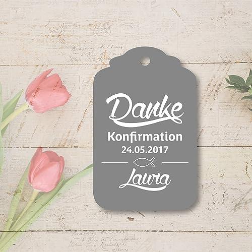25 Geschenkanhänger Etiketten Tag Kommunion Konfirmation Taufe Danke