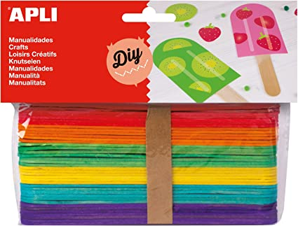 APLI - Bolsa palo polo colores surtidos 150x18mm, 40 uds: Amazon ...