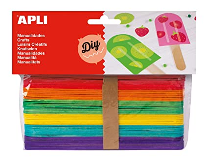 APLI - Bolsa palo polo colores surtidos 150x18mm, 40 uds: Amazon ...