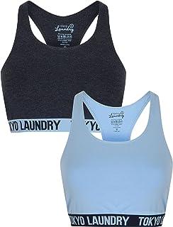 New Womens Tokyo Laundry Gym Cotton Sports Bra and Briefs White Set Size XS-L