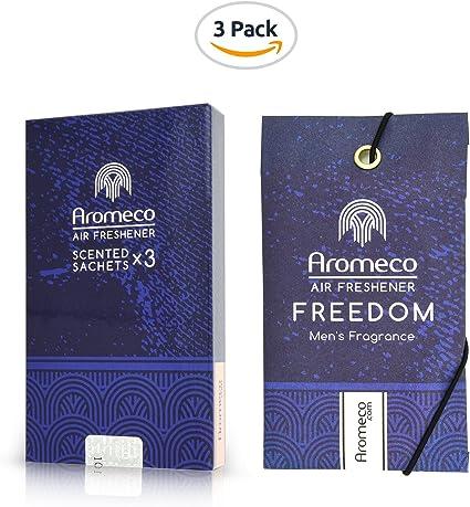 Amazon.es: aromeco Car Air Freshener – Ambientador de armario – Zapatero – Ambientador – Ambientador – Ambientador. – Bolsita aromática – Fragancia del hombre el inodoro libertad, pack de 3