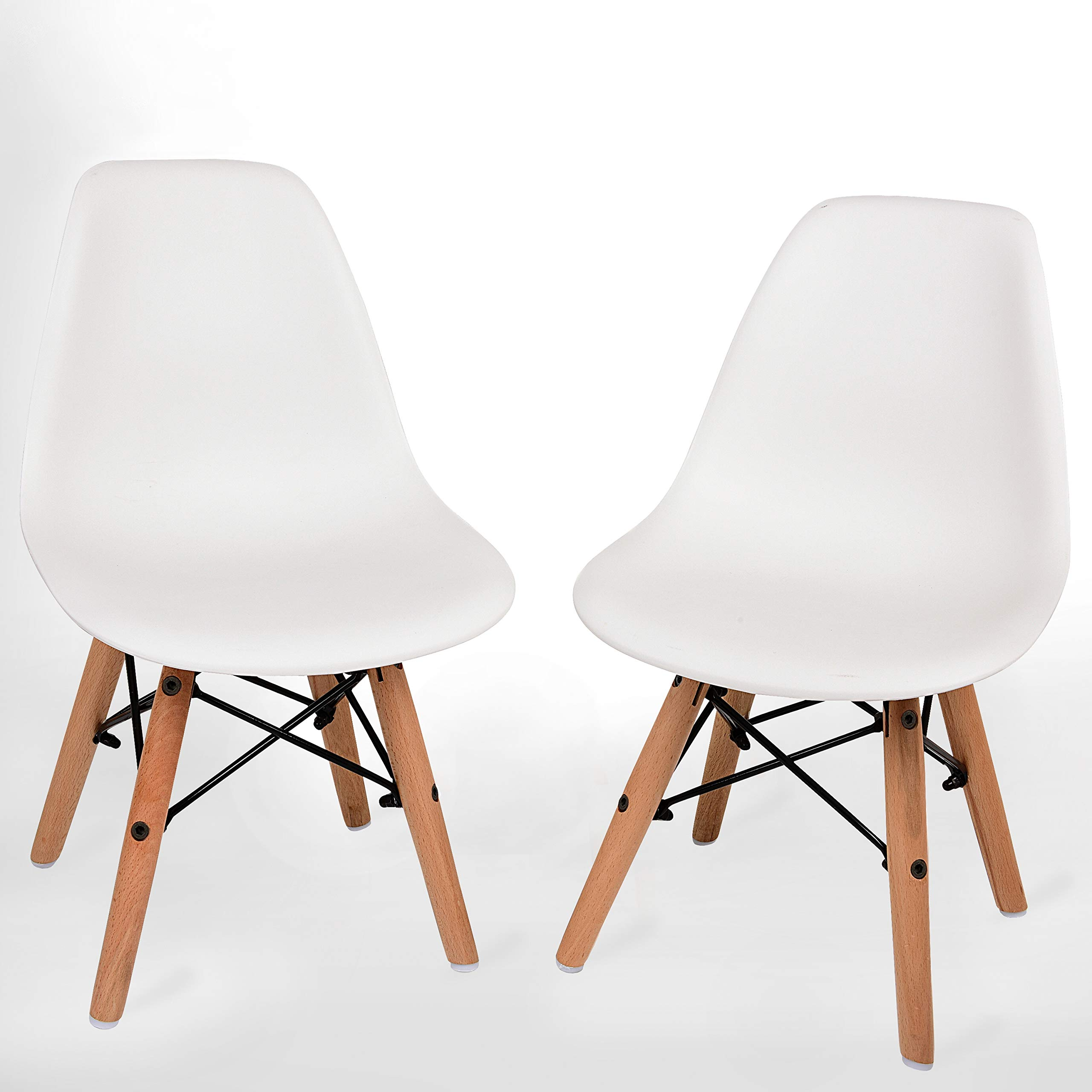 UrbanMod Kids Modern Style Chairs, [Set of 2] ABS Easy-Clean Chairs!! Highest Strength Capacity (330lbs)! by UrbanMod