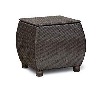 Superb La Z Boy Outdoor Breckenridge Resin Wicker Patio Side Table