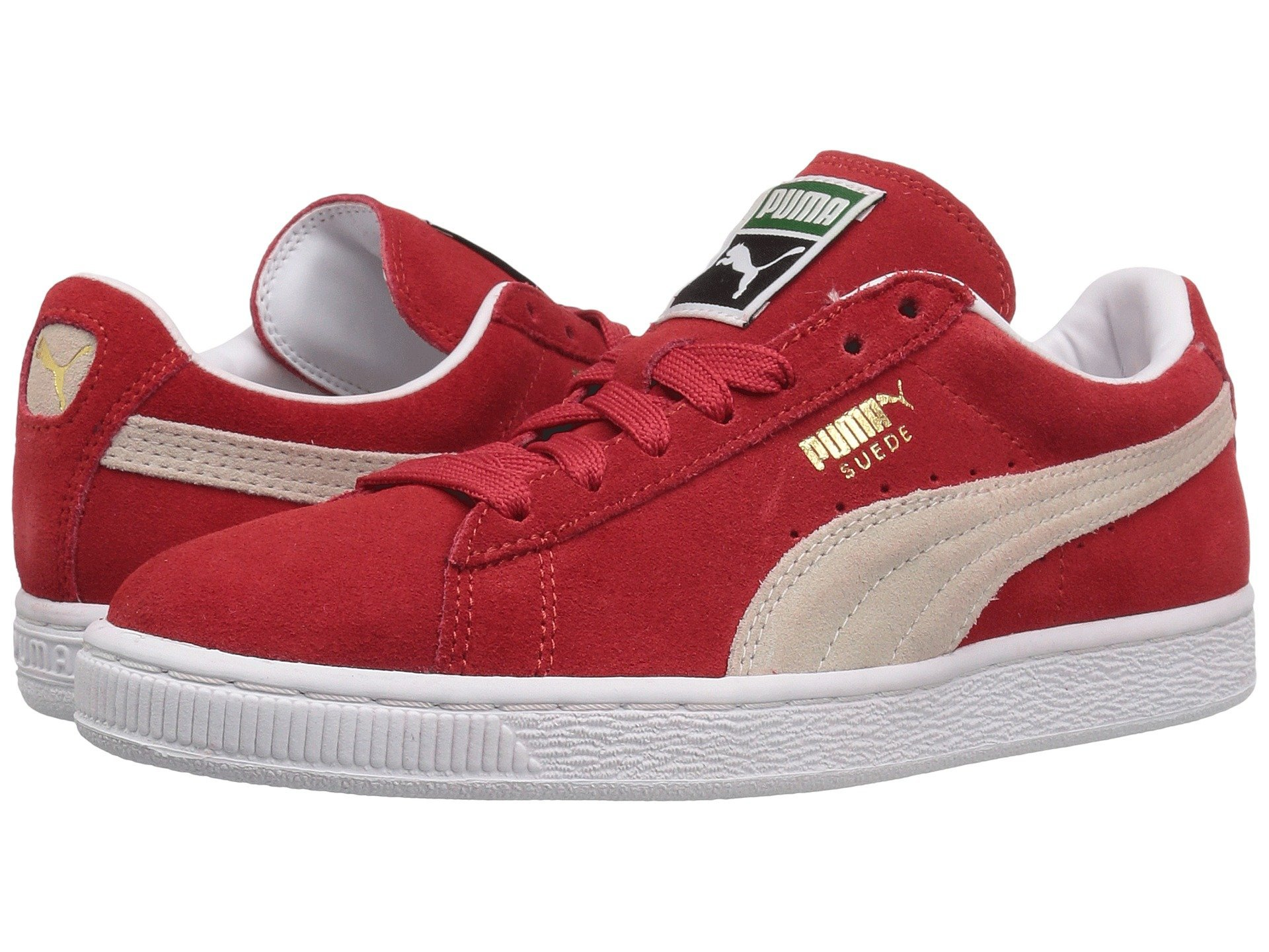 official photos ee476 d96a6 Galleon - PUMA Suede Classic Sneaker,High Risk Red White,7.5 M US Men s