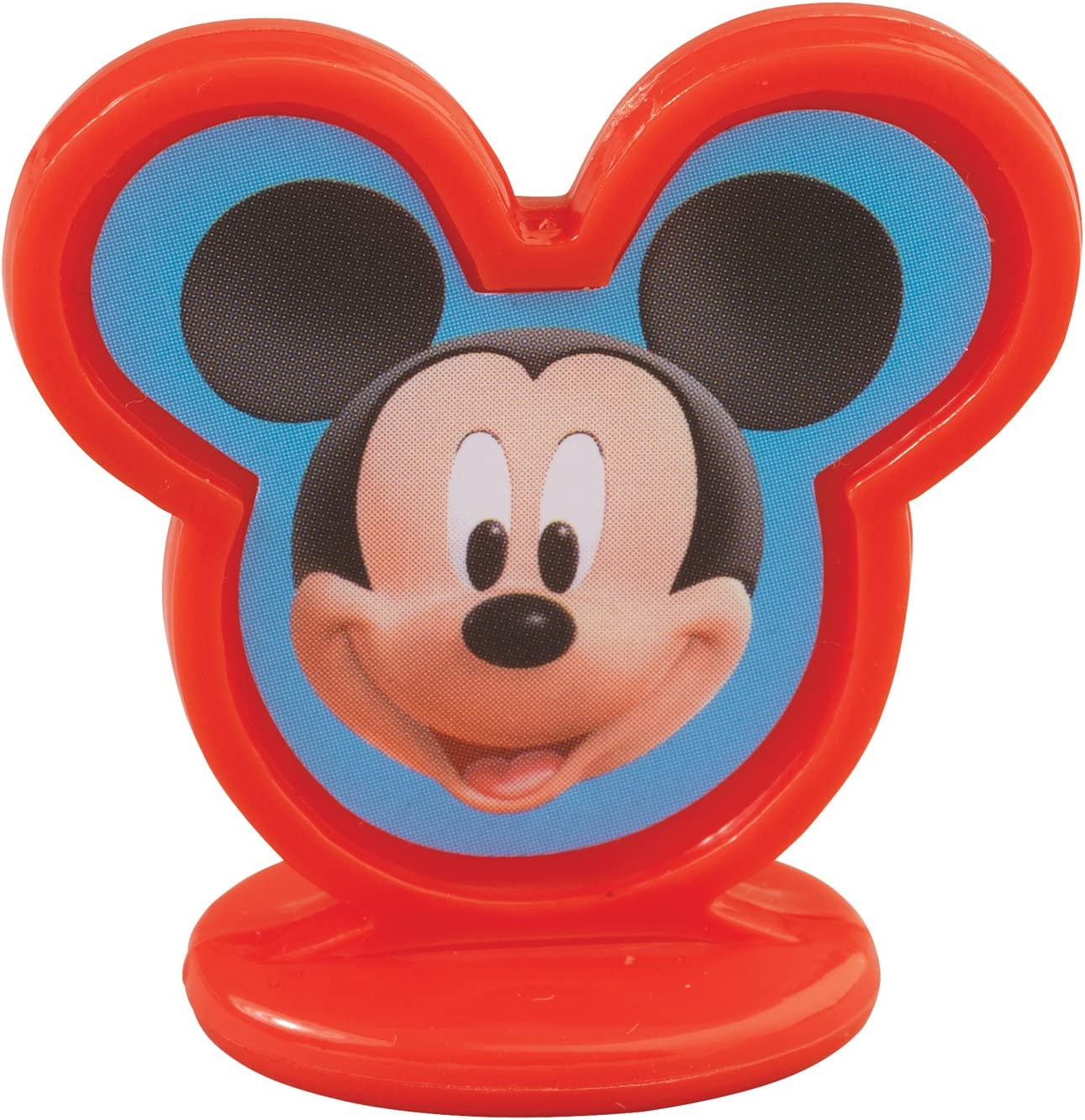 Disney Mickey Mouse Age 2 Cake Topper with stand Up Sign in Red DISCONTINUED
