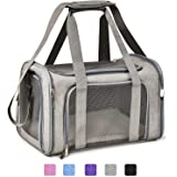 Henkelion Cat Carriers Dog Carrier Pet Carrier For Small / Medium Cats Dogs Puppies (Up To 15lbs), TSA Airline Approved…