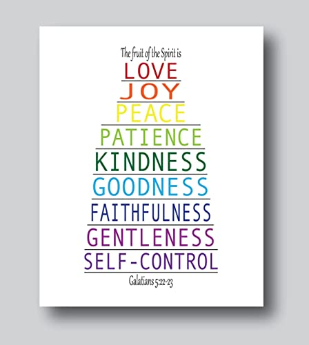 Amazon fruit of the spirit wall art fruit of the spirit gifts fruit of the spirit wall art fruit of the spirit gifts bible verse wall negle Images