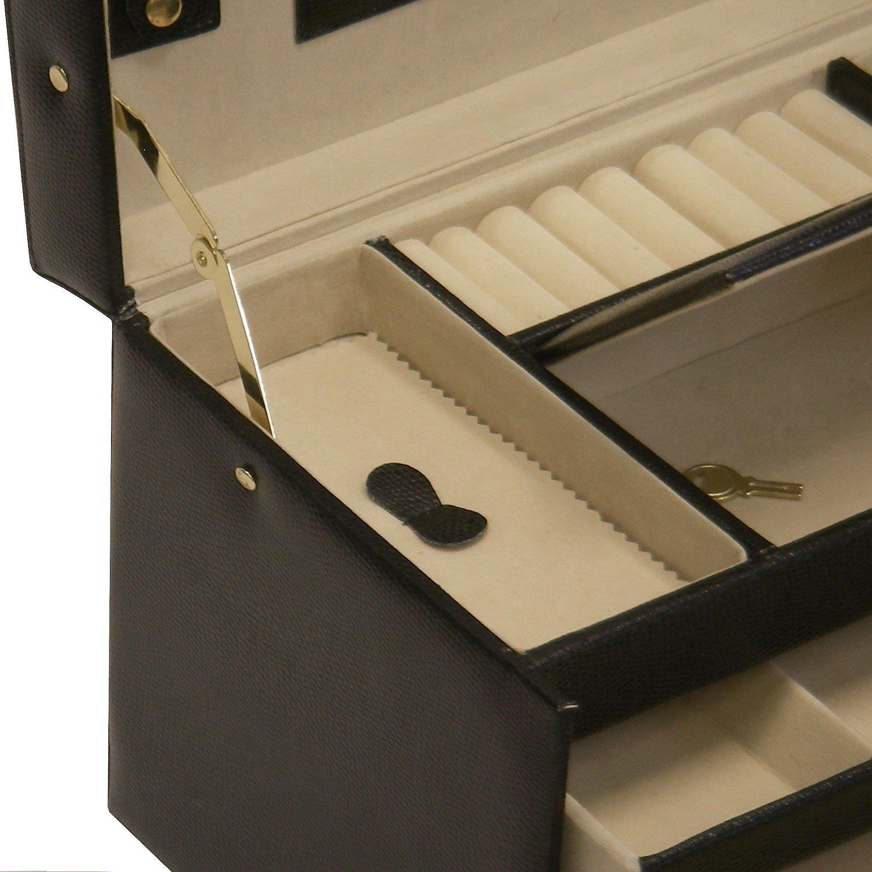 xl schmuckkasten schmuckkoffer schatulle aufbewahrung. Black Bedroom Furniture Sets. Home Design Ideas