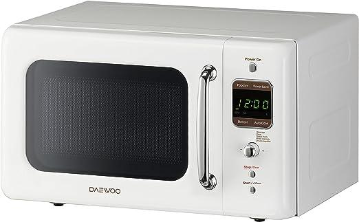 Daewoo KOR-7LREW Retro Countertop Microwave Oven 0.7 Cu. Ft., 700W | Cream White