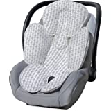 Carter's Infant Head Support and Cuddler for Carseats & Strollers Diamond Trellis, Grey/White
