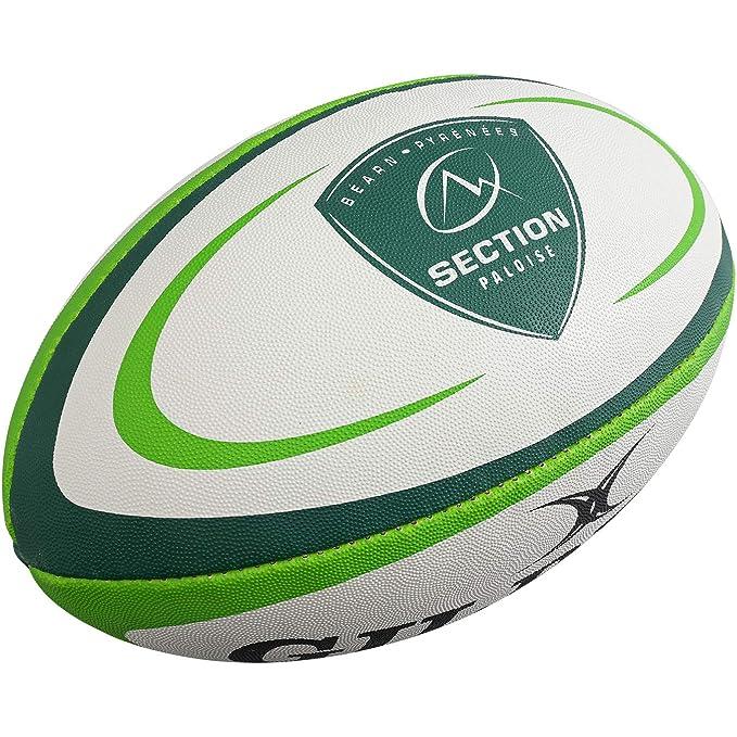 Gilbert Ballon de Rugby PAU (Taille 5): Amazon.es: Deportes y aire ...