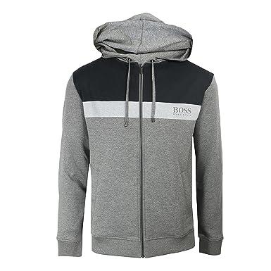 986962305 BOSS Hugo Homeleisure Mens Grey Marl Jacket S: Amazon.co.uk: Clothing