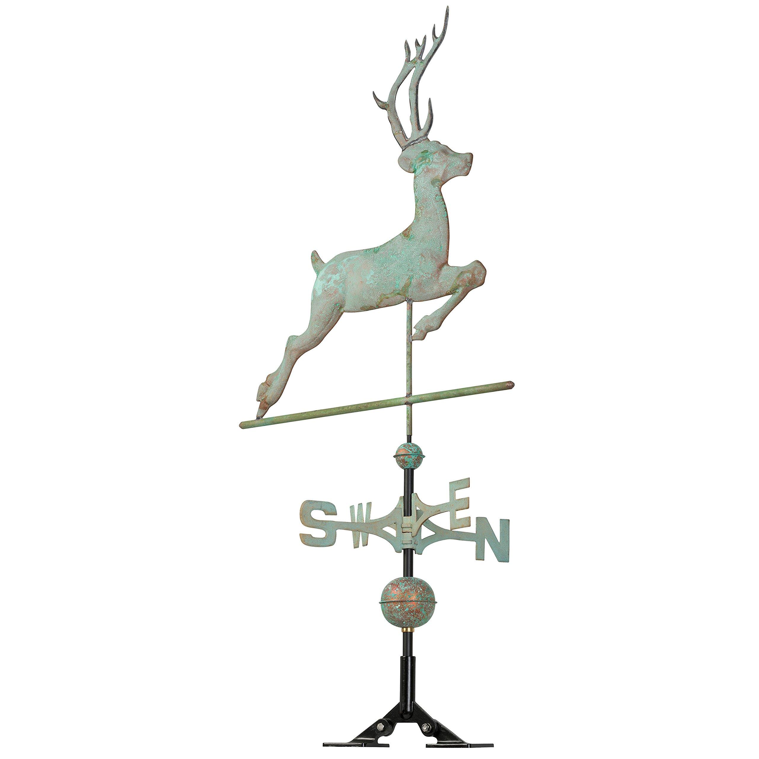 Whitehall Products Copper Deer Weathervane, Verdigris