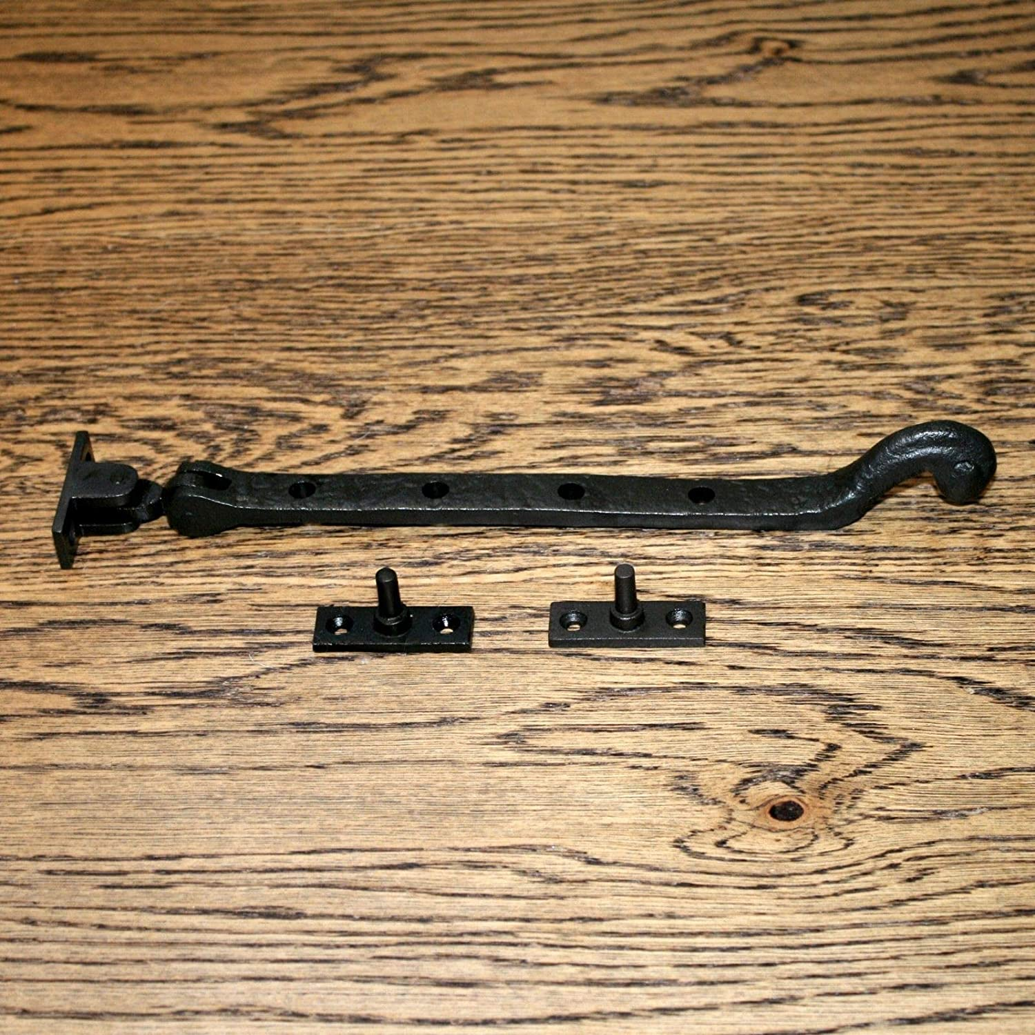 Tudor Catch 10 Window Fittings Black Vintage cast Iron Latch Stay