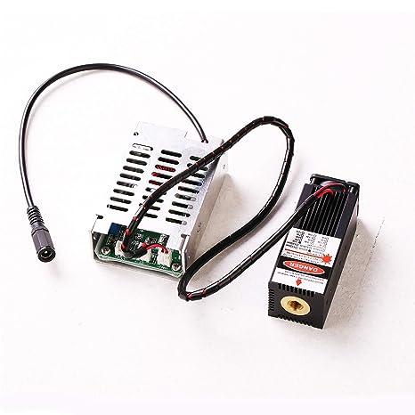 Amazon.com: Módulo láser azul 405 nm/450 nm 500 mW/2,5 W/5,5 ...