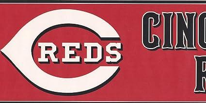 Cincinnati Reds MLB Baseball Team Fan Sports Wallpaper Border Modern Design Roll 15 X