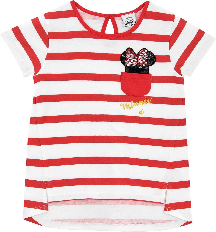 Disney Minnie Mouse Ragazze Maglietta a Maniche Corte Topolina