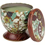 Pajoma 62414 Woodwick - Candela profumata, collezione Gallery, aroma: Muschio di salice bianco, 240 g
