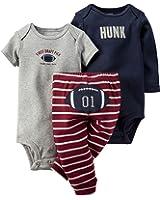 Carters Baby Boys 3-pc. Football Pick Bodysuit Set 12 Month Navy blue/grey/burgundy