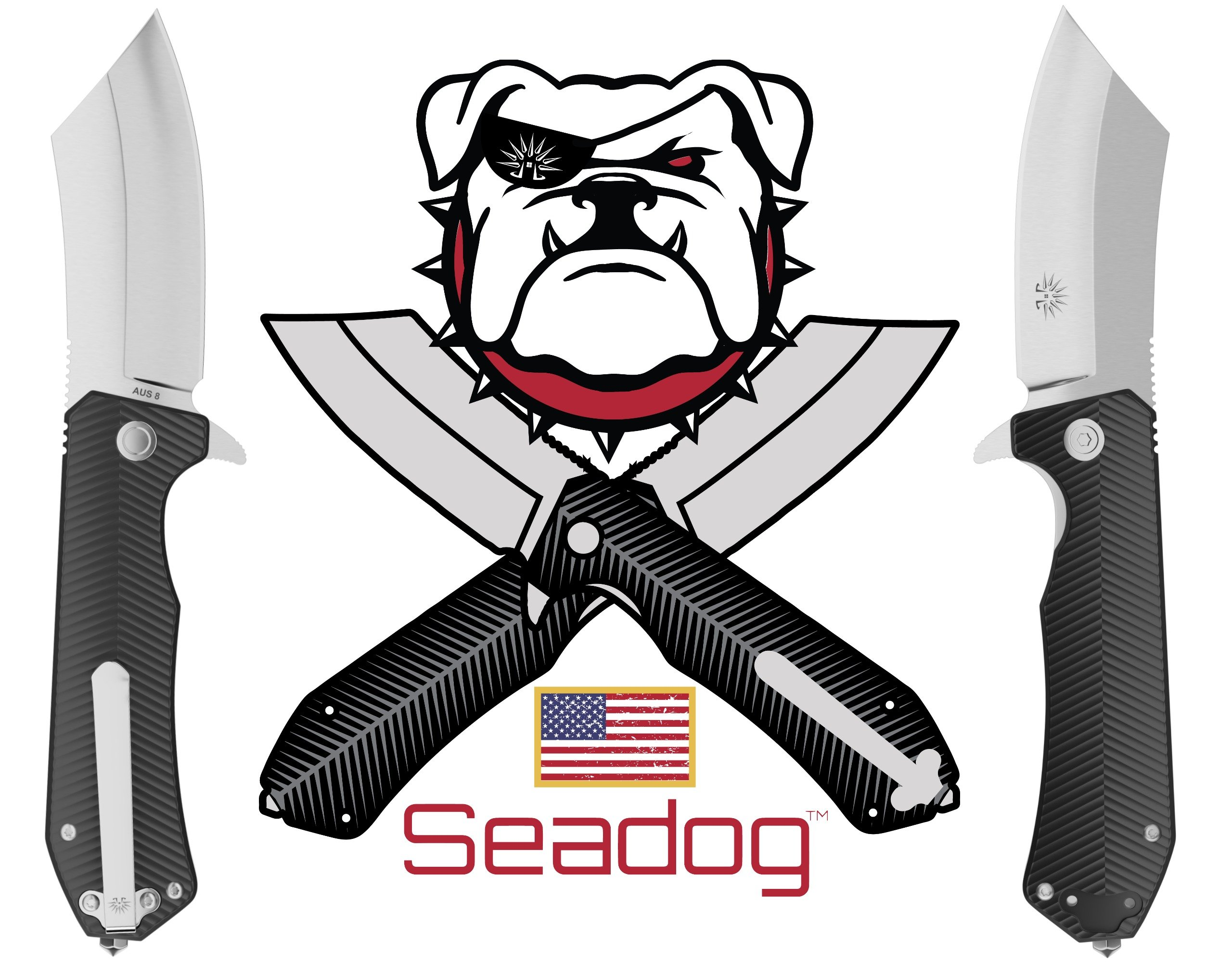 Off-Grid Knives - Seadog Folding Knife - Hard Use Everyday Carry EDC, Cryo Japanese AUS8 Blade Steel, Ergonomic G10 Scales, Tip-Up Left or Right Deep Pocket Carry, Tungsten Carbide Glass Breaker by Off-Grid Knives (Image #9)