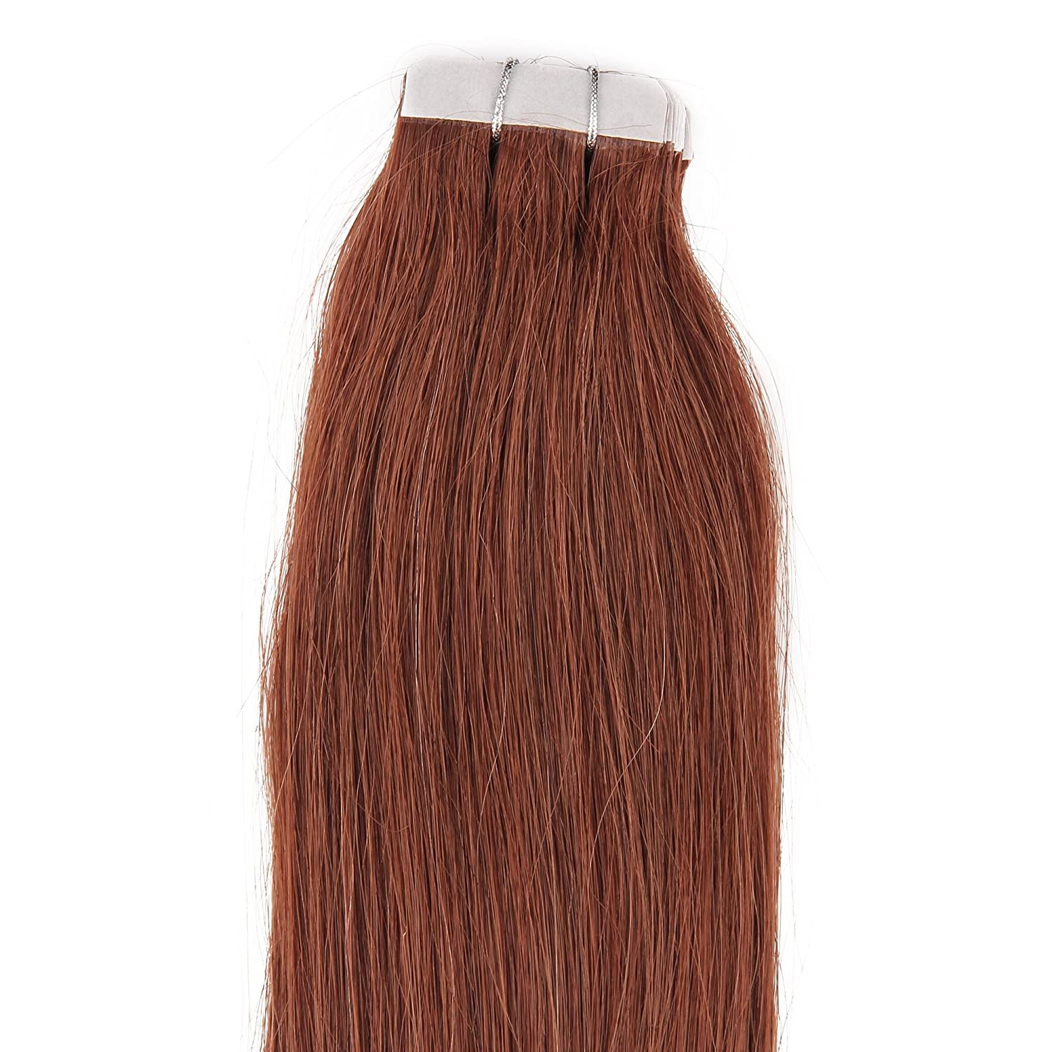 Amazon 16182022 24 tape in real human hair amazon 16182022 24 tape in real human hair extensions straight 17 colors 20pcs beauty hair style 16inch 30g 20pcs 02 dark brown pmusecretfo Gallery