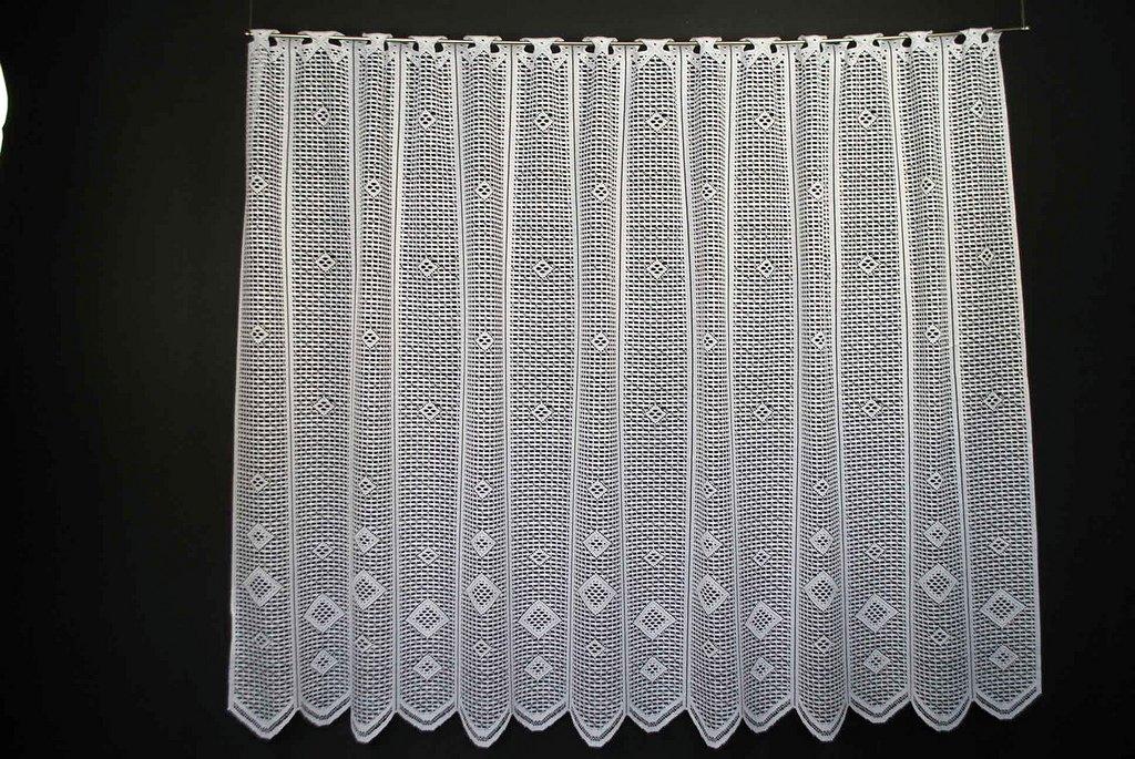 Rideaux brise-bise jacquard brut 120 cm de haut | Vous pouvez choisir la largeur des rideaux par paliers de 24 cm | Colour: Blanc | Rideaux cuisine