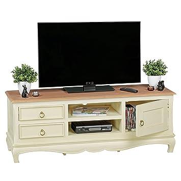 Wohnling TV Lowboard ANGORI 135 Cm Massivholz Akazie/Mango, TV HiFi Regal  Im Landhaus
