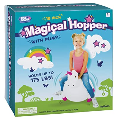 Toysmith Magical Unicorn Indoor/ Outdoor Hopper with Pump (1343): Toys & Games