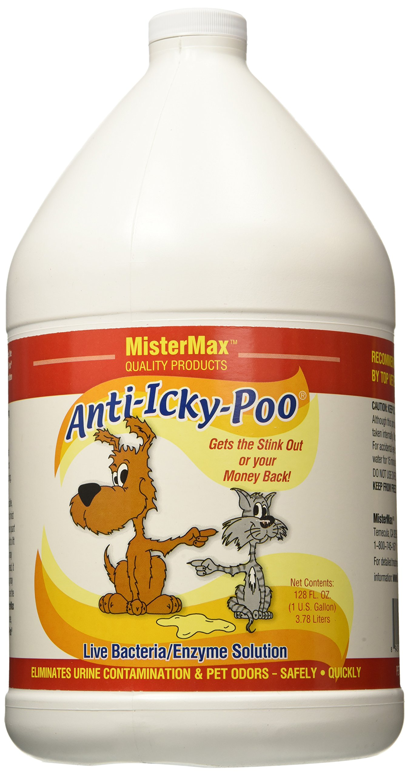 Mister Max Original Scent Anti Icky Poo Odor Remover, Gallon Size by Mister Max