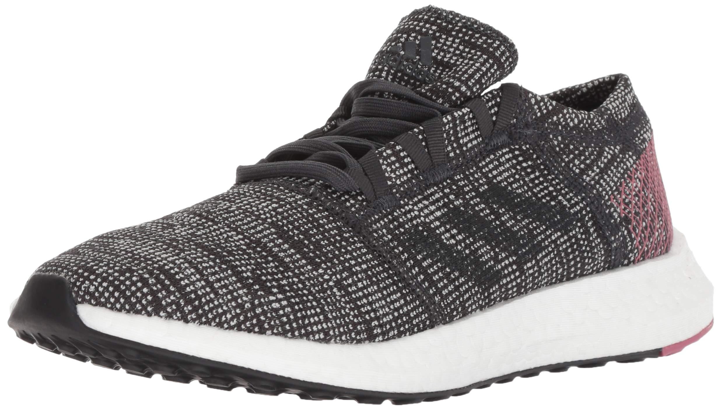 adidas Women's Pureboost Go Running Shoe, Carbon/Trace Maroon, 5 M US