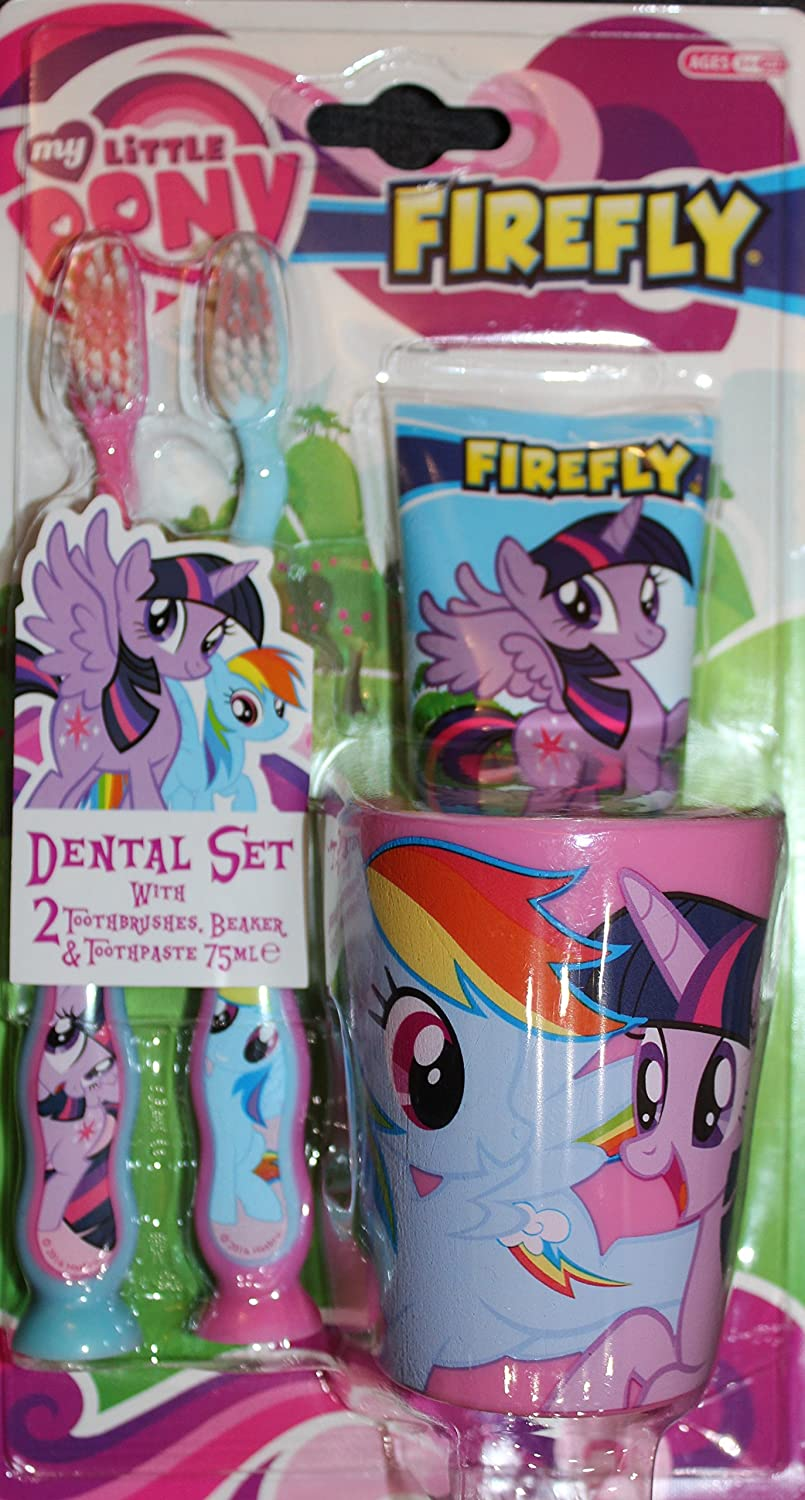 My Little Pony Dental Set, Toothbrush x 2, Toothpaste & Cup / Beaker Firefly