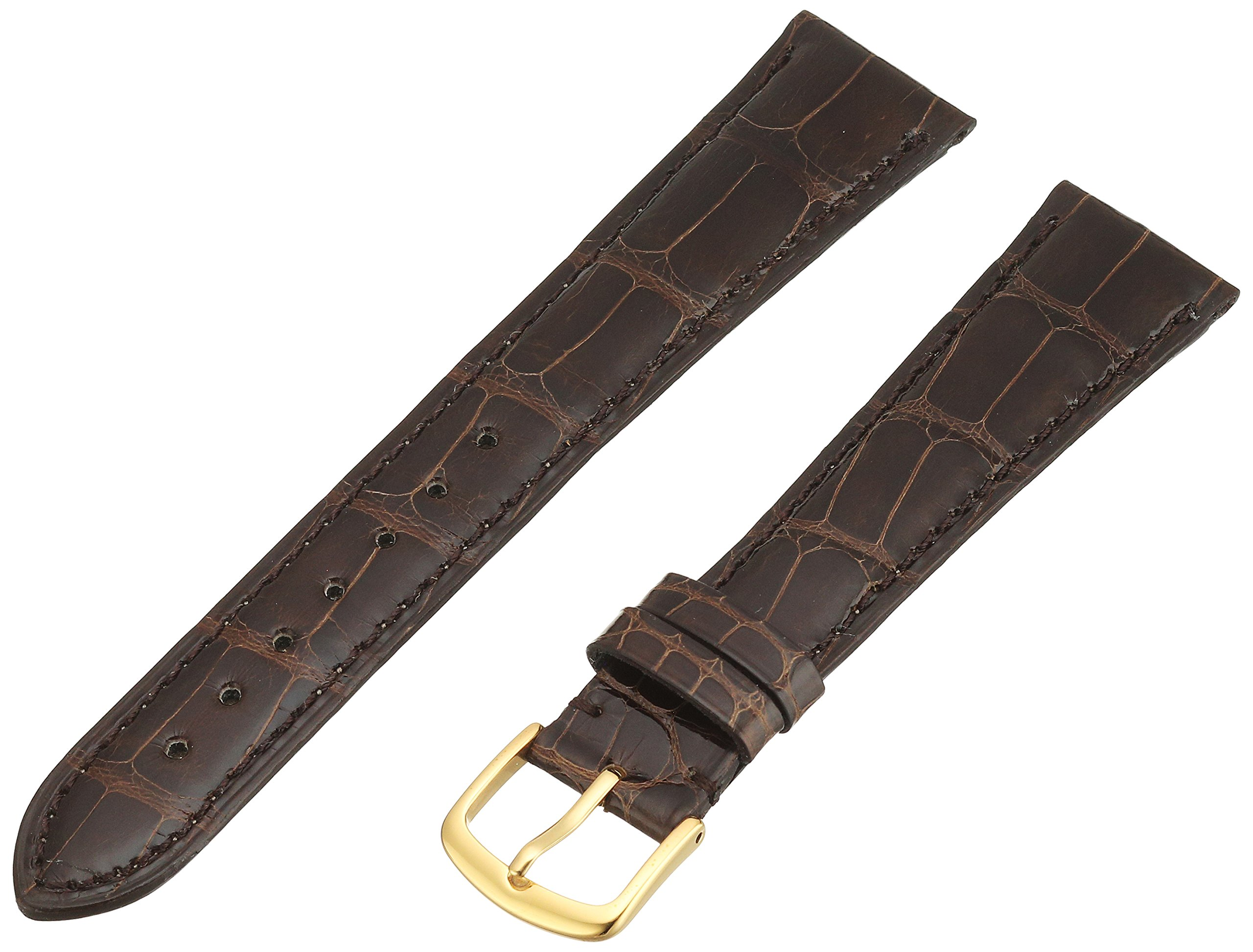 Hadley-Roma Men's MS2007RB-200 20-mm Brown Genuine Alligator Leather Watch Strap