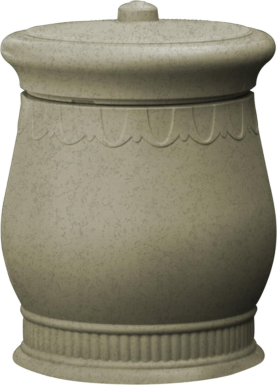 Good Ideas SV-URN-SAN Savannah Storage Urn, Sandstone, Round