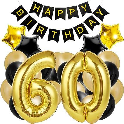 Amazon.com: Decoración de 60 cumpleaños para la mejor fiesta ...