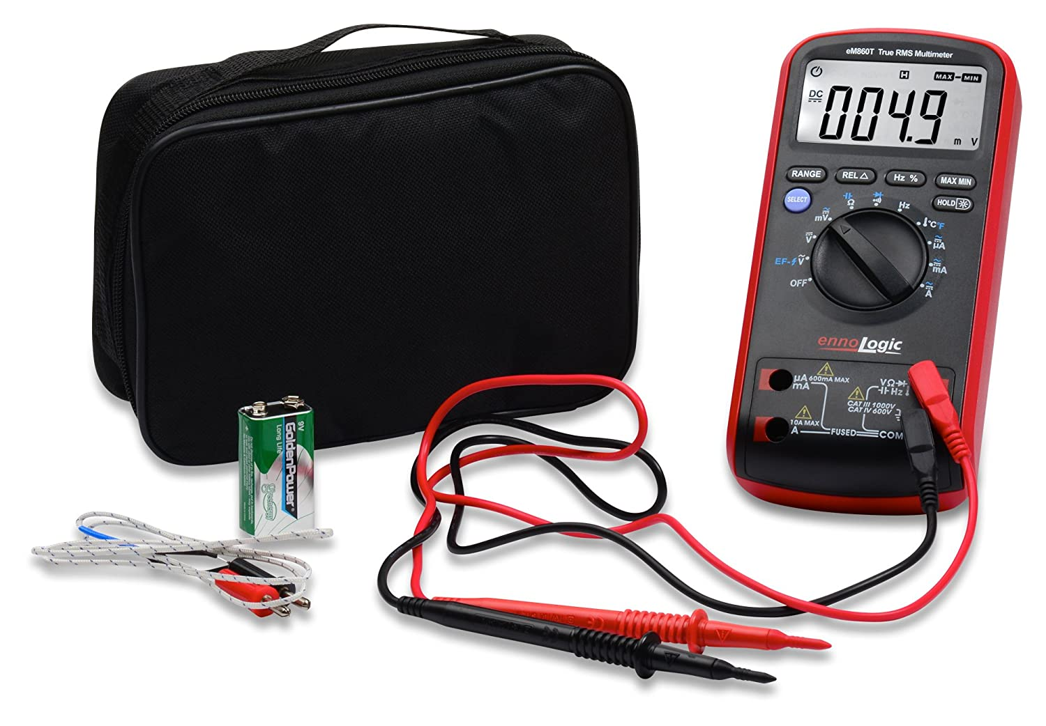Amazon com innova 3320 auto ranging digital multimeter automotive - Amazon Com Trms Digital Multimeter Em860t By Ennologic Auto Ranging Dmm Voltage Current Resistance Capacitance Frequency Temperature Non Contact