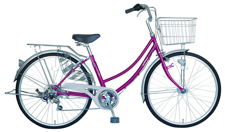 marukin(マルキン) 完全組立 26インチ自転車 LEDオートライト シマノ製6段変速 B077Y93YF2 ダークピンク ダークピンク