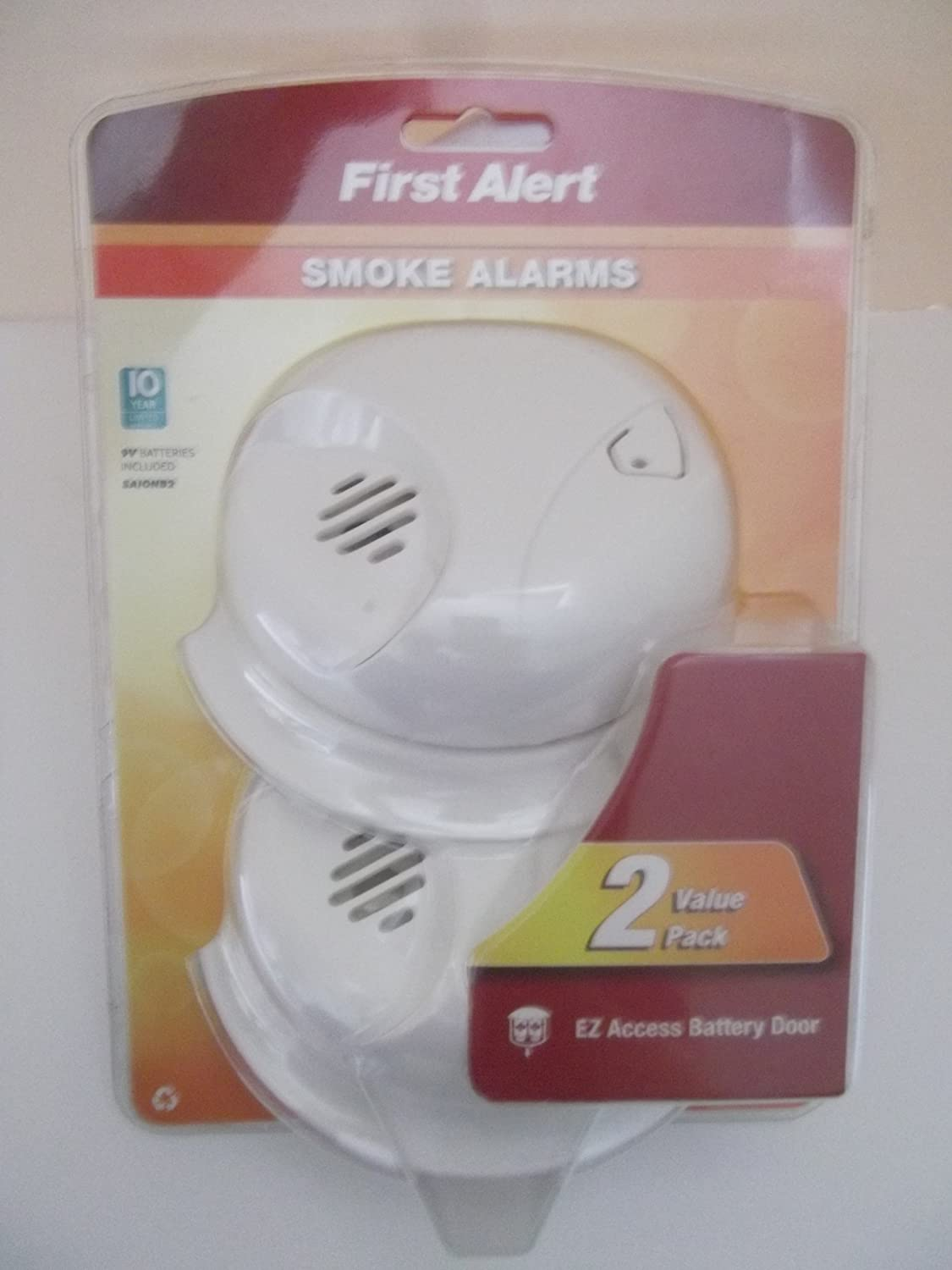 First Alert Smoke Alarms, 2-Pack