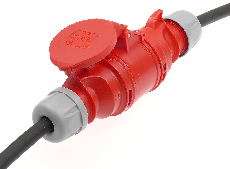 CEE Starkstrom Verl/ängerung 32A Phasenwender 5G4 H07RN-F 35m