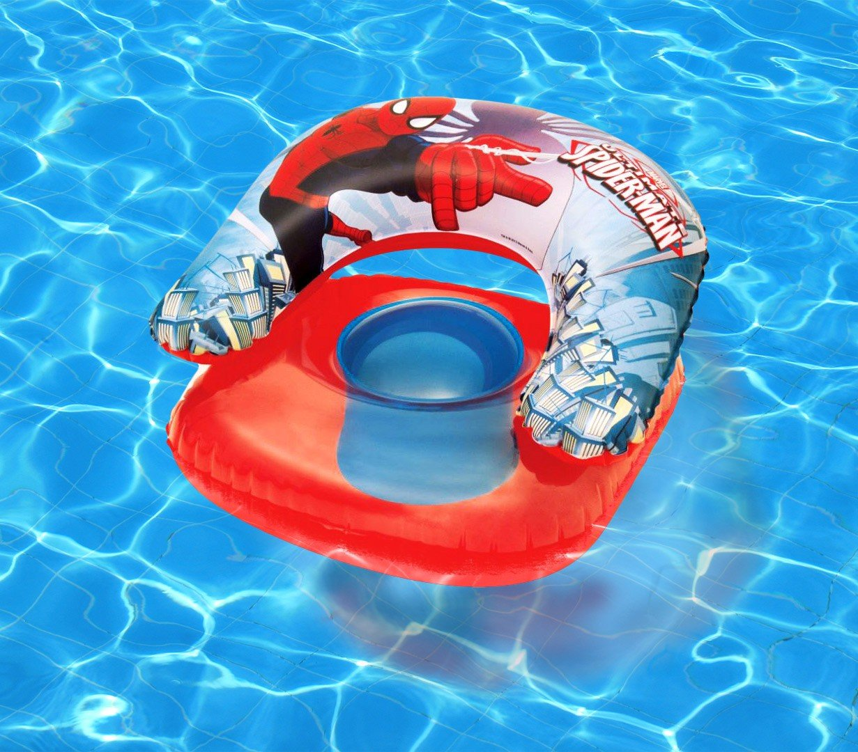 98008 fauteuil aquatique gonflable spiderman pour les enfants BESTWAY
