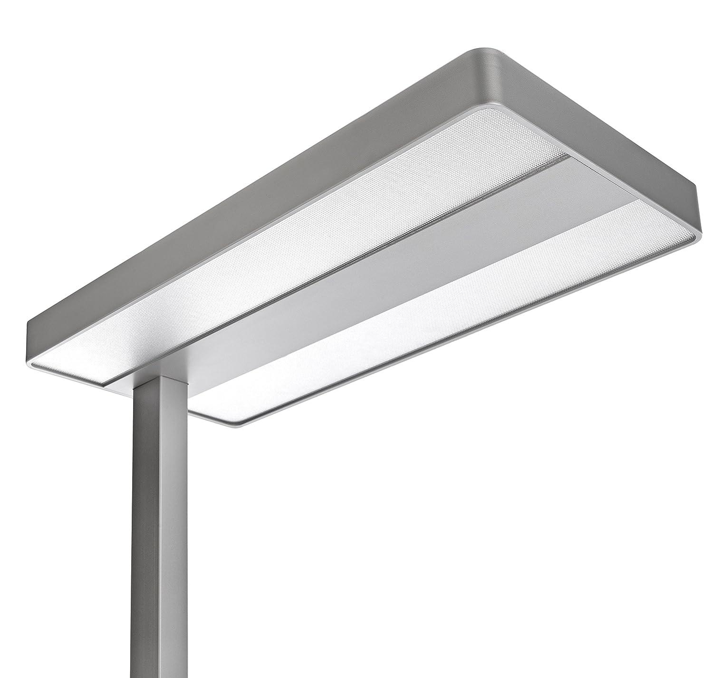 Unilux Lixus Lampadaire LED 50W 5000 Lumens /Éclairage direct et indirect et Variation dintensit/é Lumineuse rotatif sur le m/ât 195 x 45 cm Gris m/étal