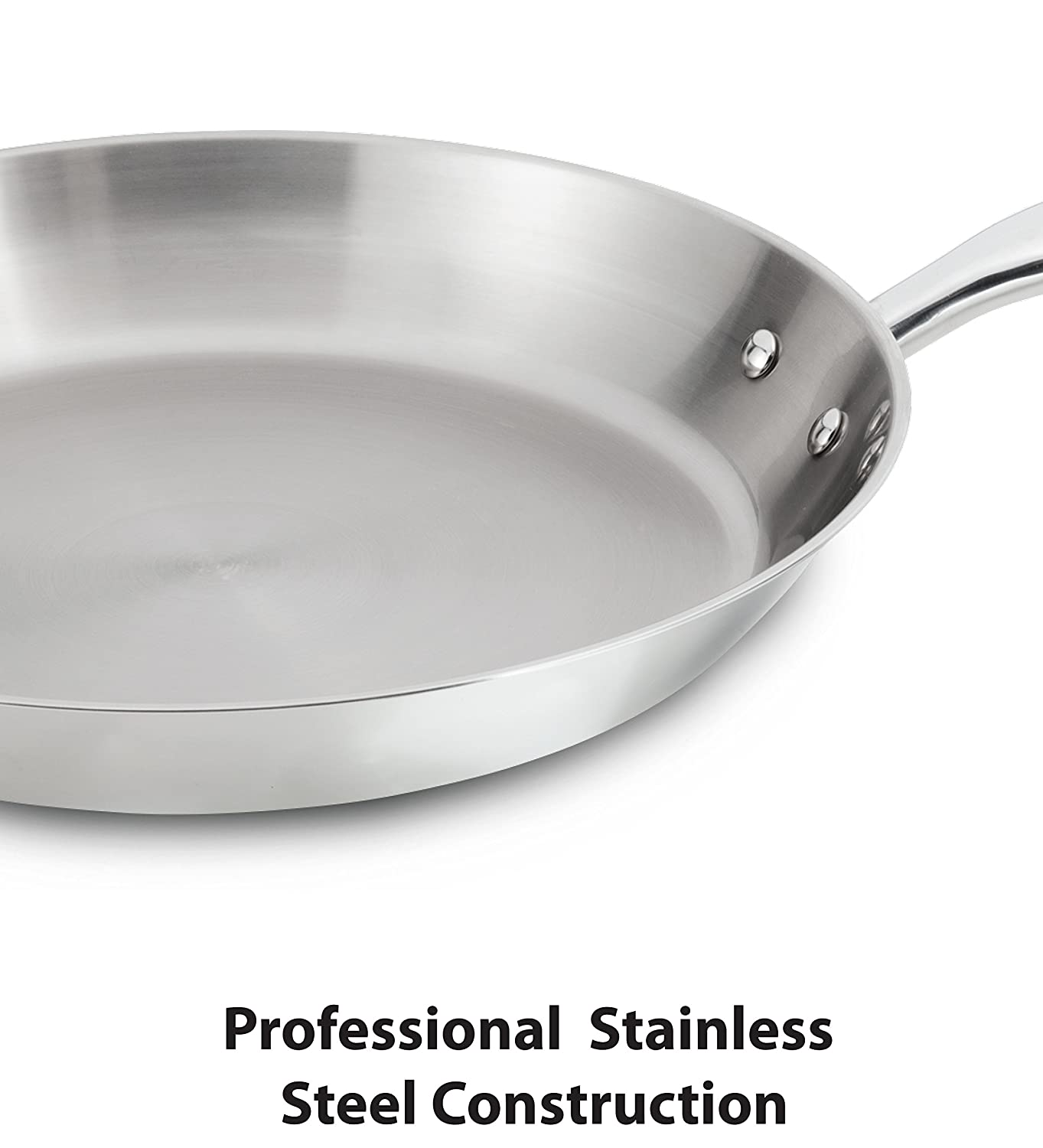 T-fal C836SA Ultimate Stainless Steel Copper-Bottom Heavy Gauge Multi-Layer Base Cookware Set Silver 10-Piece