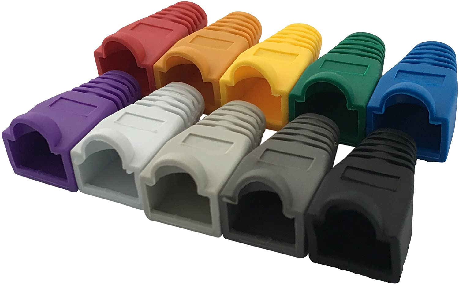 Cables 100pcs RJ45 Cat6 Cat5E Ethernet Cable Snagless Cover Strain Relief Boot @JH Cable Length: Other, Color: Purple
