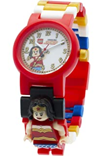 Lego DC Comics 8020271 Super Heroes Wonder Woman Kids Minifigure Link Buildable Watch | Red/
